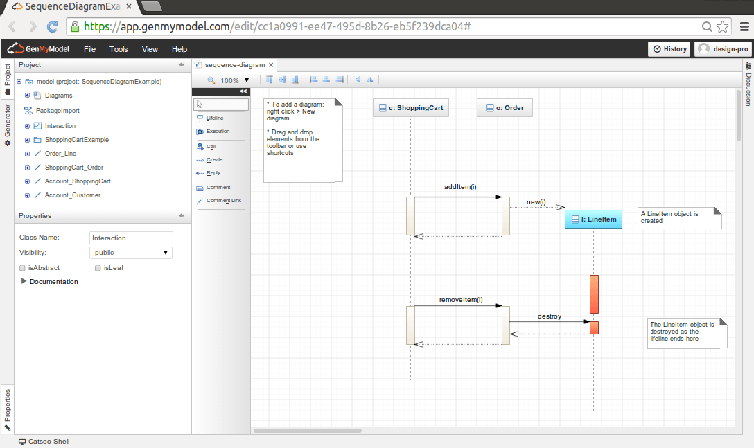 sequence diagram online - Free Uml Tool For Mac