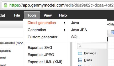 Uml online tool free online uml tool uml online genmymodel draw uml class diagram online ccuart Image collections