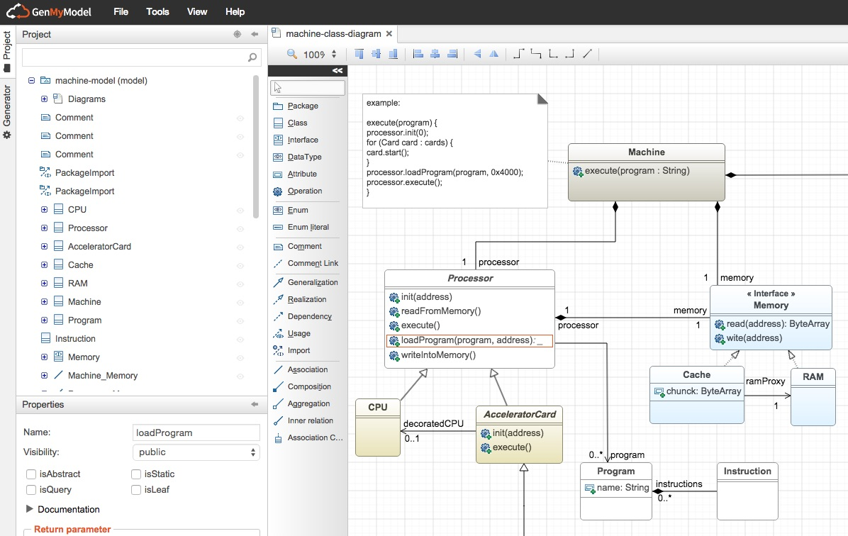 Uml Online Tool Free Genmymodel State Diagram Example Store Machine