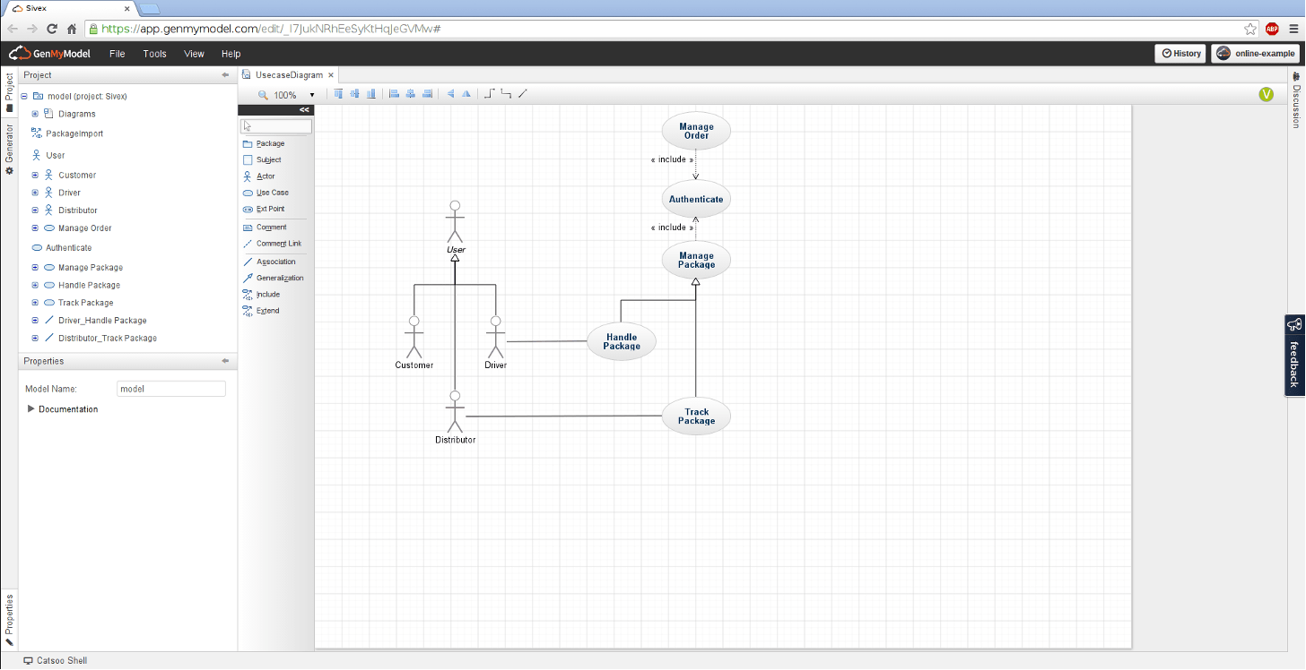 Use Case Diagram Online Draw Use Case Diagram Online