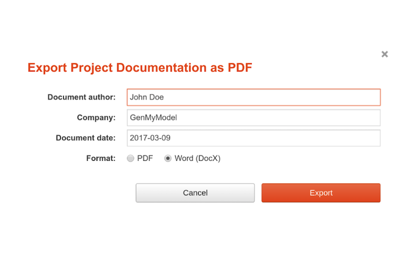 bpmn export documentation