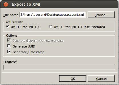 staruml XMI export