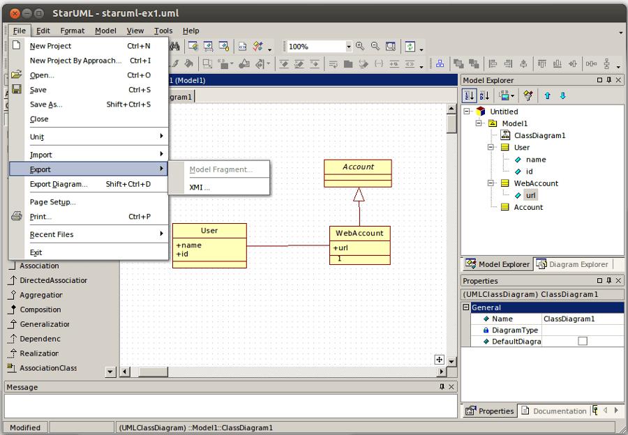 staruml UML export
